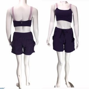 LULULEMON RUNING SHORTS BRA SET